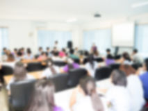 Abstract blur Business Conference Stock Image