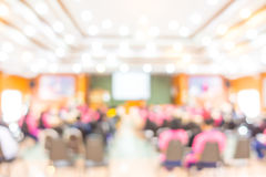 Abstract blur Business Conference and Presentation . Stock Image