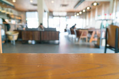 Abstract blur in cafe Stock Images