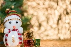 Abstract blur Christmas bokeh background.  Stock Photography
