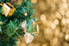Abstract blur Christmas bokeh background royalty free stock photos
