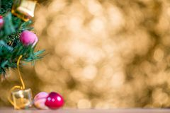Abstract blur Christmas Tree bokeh background stock images