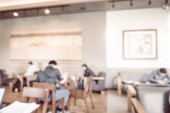 Abstract blur coffee shop and restaurant interior Royalty Free Stock Image
