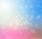 Abstract blur color light background. Bokeh effect. Spring background. Green and pink colors. Vector illustration Royalty Free Stock Image