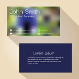 Abstract blur colorful simple business card design Stock Photos