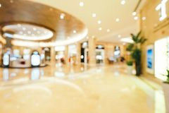Abstract blur and defocused beautiful luxury shopping mall of deparment store. For background royalty free stock image