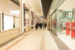 Abstract blur and defocused beautiful luxury shopping mall of deparment store for background. walking people. Abstract blur and defocused beautiful luxury stock image