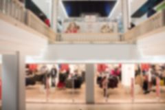 Abstract blur and defocused beautiful shopping mall of deparment store for background. Abstract blur and defocused beautiful shopping mall of deparment store royalty free stock image