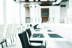 Abstract blur and defocused luxury decoration in restaurant inte Royalty Free Stock Image