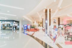 abstract blur and defocused in luxury shopping mall and retail s Royalty Free Stock Photos