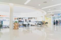 abstract blur and defocused in luxury shopping mall and retail s royalty free stock photography