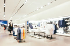 Abstract blur and defocused shopping mall of deparment store int. Erior for background stock image