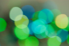 Abstract blur effect lights. On a dark Royalty Free Stock Photo