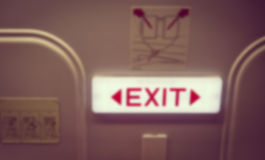 Abstract blur Emergency exit ( Filtered image proces Royalty Free Stock Photography