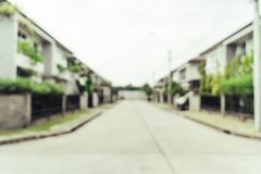 Abstract blur exteriors of house background. Vintage effect filter stock images