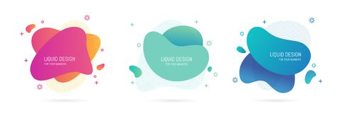 Abstract blur free form shapes color gradient vector illustration