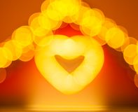 Abstract blur glowing heart Royalty Free Stock Photo