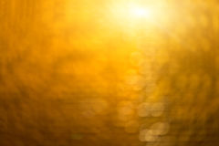 The Abstract blur golden bokeh lighting. Stock Photo