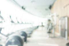 Abstract blur gym and fitness room interior Royalty Free Stock Images