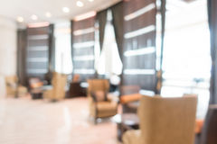 Abstract blur hotel lobby lounge Stock Photography