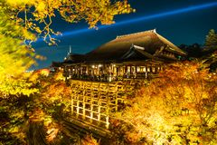 Abstract Blur Kiyomizu-dera temple and the large veranda, Kyoto,. Abstract Blur Kiyomizu-dera temple and the large veranda (Kiyomizu stage), Kyoto, Japan Stock Images