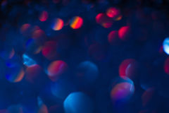 Abstract blur light bokeh, blue and red. Stock Images