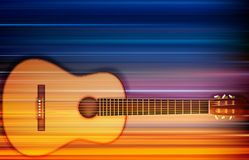 Abstract background with acoustic guitar. Abstract blur music background with acoustic guitar Royalty Free Stock Image
