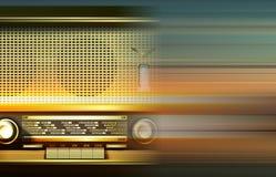 Abstract grunge background with retro radio Stock Photo