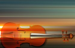 Abstract grunge music background with violin. Abstract blur music background with violin on gray Royalty Free Stock Image