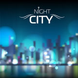 Abstract blur night city background. Abstract blur blue night city background vector illustration