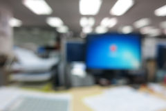 Abstract blur office background with bokeh Stock Photography