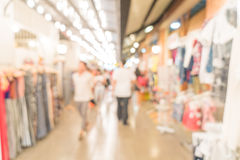 abstract blur people crowd in street market Stock Image