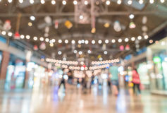 abstract blur people crowd in street market Royalty Free Stock Image