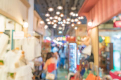 abstract blur people crowd in street market Royalty Free Stock Photo