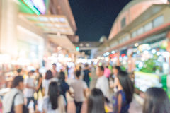 abstract blur people crowd in street market Royalty Free Stock Images