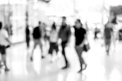 Abstract blur people walking Stock Image