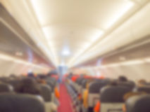 Abstract blur  Plane cabin Royalty Free Stock Photo