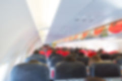 Abstract blur Plane cabin Royalty Free Stock Image