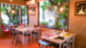 Abstract blur restaurant background Stock Images
