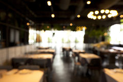 Abstract blur restaurant background. Vintage filter Royalty Free Stock Images