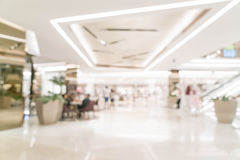 Abstract blur retail store in luxury shopping mall. For background royalty free stock image