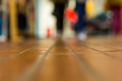 Abstract blur shopping mall background with empty floor for copy. Space and bokeh Stock Images