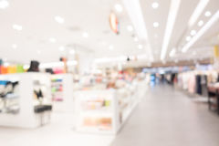 Abstract blur shopping mall Royalty Free Stock Photos