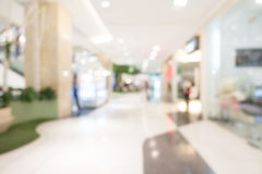 Abstract blur shopping mall Royalty Free Stock Photography