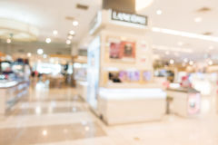 Abstract blur shopping mall interior. Abstract blur beautiful luxury shopping mall and retail store interior for background Stock Photo