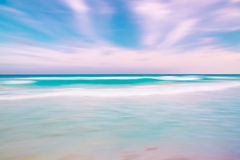 Abstract blur sky and ocean nature background with blurred panni. Ng motion Royalty Free Stock Photos
