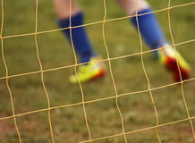 Abstract blur soccer net player Royalty Free Stock Photography