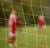 Abstract blur soccer net players Royalty Free Stock Photo