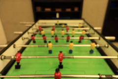 Abstract - blur of soccer table Stock Photography