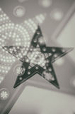 Abstract blur star. Light in black and white Royalty Free Stock Photo